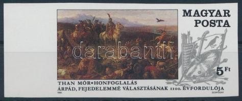 1989 Árpád fejedelmemmé választásának 1100. évrodulója ívszéli vágott bélyeg