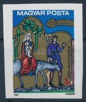 1989 Karácsony vágott bélyeg