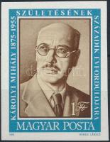 1975 Károlyi Mihály vágott bélyeg
