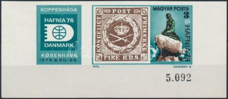 1976 Hafina ívsarki vágott bélyeg szelvénnyel