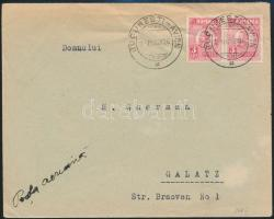 1926 Légi levél / Airmail cover BUCUREST - Galatz