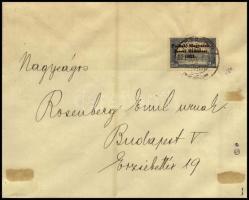 Nyugat Magyarország V. 2.50K NEZSIDER bélyegzéssel levélen. Signed: Bodor