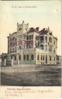 1915 Magyaróvár, Mosonmagyaróvár; M. kir. posta és távirda épület. Kiadja Pingitzer I.