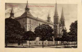 Timisoara, girl school, Temesvár, De Notre Dame Leánynevelő Intézet
