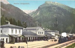 1916 Bad Gastein, Station / railway station, locomotive. Ferd. v. Kleinmayr No. 617.