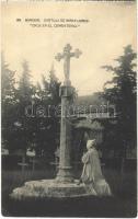 Burgos, Cartuja de Miraflores, Cruz en el Cementerio / Miraflores Charterhouse, monastery, cross in the cemetery