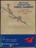 1929 Boy Scouts Coming of Age World Jamboree. Arrowe Park. July 31st-Aug 13th 1929. Angol nyelven. A borítón kis szakadással.