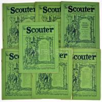 1924-1929 The Scouter 7 száma: 1924. August. Special Jamboree Number, 1928. June, 1929. July.,August, October, November, December. Angol nyelven. Változó állapotban.