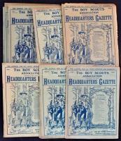 1920 The Boy Scouts Association Headquarters Gazette. 14. teljes évfolyam. Angol nyelven. Változó állapotban.