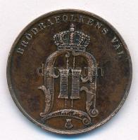 Svédország 1891. 5ö Br II. Oszkár T:2 ph. Sweden 1891. 5 Öre Br Oscar II C:XF edge error Krause KM#757