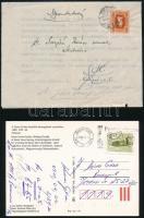 2 db cserkész témájú levél Surján (Schumann) Jánoshoz + 1 db képeslap