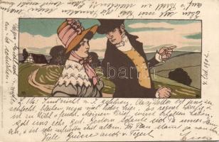 """""""Als der Grossvater die Grossmutter nahm."""" Meissner & Buch, litho"""