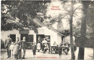 Császár, Krausz Kálmán vendéglője, étterem, kert személyzettel