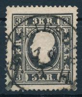 "3kr type Ia black ""TEMESVÁR B. H."" Certificate: Steiner, 3kr Ia tipus fekete, szépen centrált bélyeg ""TEMESVÁR B. H."" Certificate: Steiner"