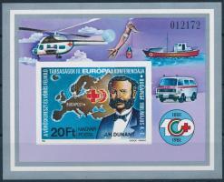 1981 Vöröskereszt (I.) vágott blokk (4.500)