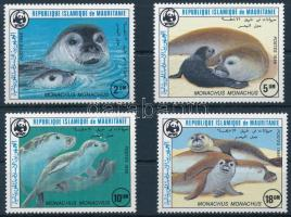 1986 WWF Mediterrán barátfóka sor, WWF Mediterranean monk seal set Mi 871-874