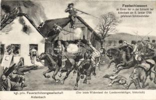 Festschiessen / battle of Aidenbach, 1706.