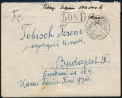 1946. jul. 9. 100.000 billió pengő készpénz bérmentesítésű távolsági levél Balatonboglárról Budapestre a Billiós időszakból