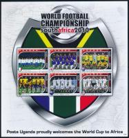 2011 Futball Világbajnokság, Dél-Afrika kisív sor, Football World Cup, South Africa mini sheet set Mi 2748-2759