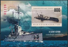 2018 Szent István csatahajó vágott blokk