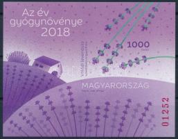 2018 Az év gyógynövénye vágott blokk