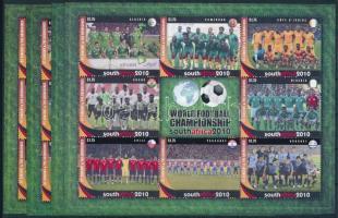 Labdarúgó világbajnokság, Dél-Afrika kisív sor, Football World Cup, South Africa mini sheet set