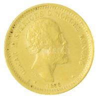 Svédország 1876ST 10K Au II. Oszkár (4,49g/0.900) T:2 Sweden 1876ST 10 Kronor Au Oscar II (4,49g/0.900) C:XF Krause KM#732