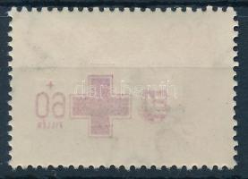 1957 Vöröskereszt 60f a felülnyomat gépszínátnyomatával. Ritka!