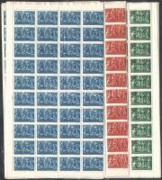 1943 Karácsony 150 sor ívdarabokban (15.000)