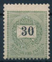 1898 30kr elfogazva, jobbra felfelé tolódott értékszám (10.000+++)