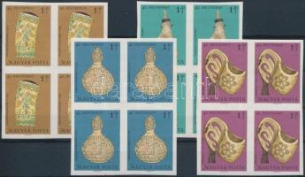 1969 Bélyegnap (42.) vágott sor 4-es tömbökben (12.000) (rozsdafoltok / stain)