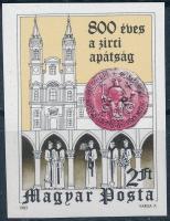 1982 800 éves a Zirchi Apátság vágott bélyeg