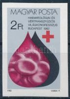 1982 Hematológiai világkongresszus vágott bélyeg