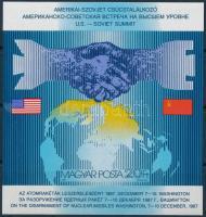 1987 Csúcstalálkozó vágott blokk (3.500)