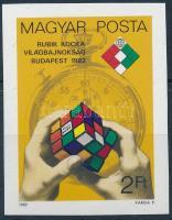 1982 Rubik-kocka VB vágott bélyeg