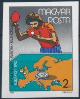 1982 Asztalitenisz EB - Budapest vágott bélyeg