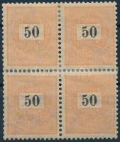 1899 50kr négyestömb, 1. vízjelállás (40.000++)