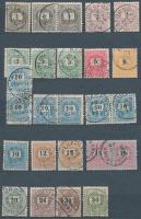 1898 25 db bélyeg közte színváltozatok, összefüggések