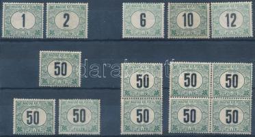 1903 Portó (IV.) 5 klf érték + 2 db 50f + párban és 4-es tömbben (10.100)