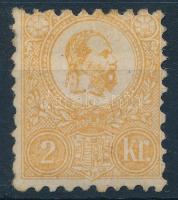 1871 Kőnyomat 2kr használatlan (*110.000) (részben eredeti gumi, betapadás / partly original gum, gum disturbance)