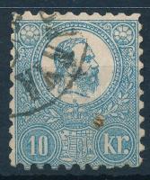 1871 Kőnyomat 10kr (26.500) (rozsda / stain)