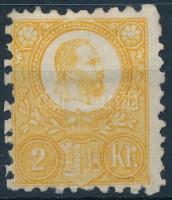 1871 Réznyomat 2kr sárga (*38.500)