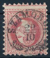 1867 5kr erősen képbe fogazott bélyeg SZAMOBOR (Gudlin 500 pont)