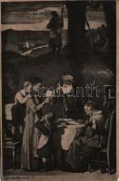 A tábori levél / WWI K.u.K. (Austro-Hungarian) military art postcard (EK)