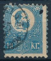 1871 Kőnyomat 10kr képbe fogazva (26.500) (kis elvékonyodás / thin paper)