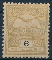 1900 Turul 6f sárgásolaj (12.000) (1 fognál alig látható pici szakadás / very small tear at 1 perf)