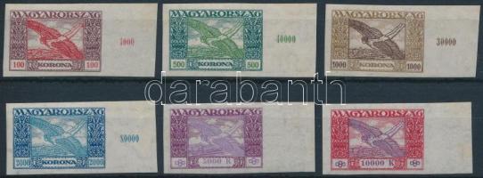 1924 Ikarusz ívszéli vágott sor (20.000)