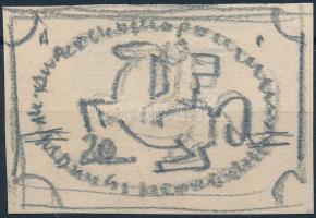 1942 Európai Posta Egyesület: Konecsni György vázlata egy kiadatlan bélyeghez / European Postal Union unissued stamp: essay of György Konecsni