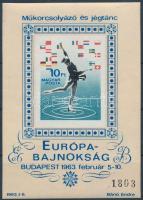 1963 Műkorcsolyázó és Jégtánc Európa-Bajnokság vágott blokk (16.000)