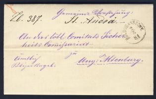 1881 Ex offo BOLDOGASSZONY - Ung. Altenburg